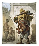 A Porter Of Goods, 1865 Tapestry by Amadeo Preziosi