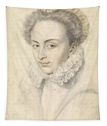 A Portrait Of A Young Woman In A Ruffled Collar Tapestry