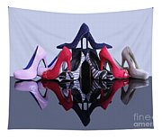 A Pyramid Of Shoes Tapestry