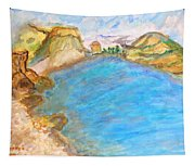 A Quiet Beach  Tapestry