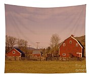 A Red Barn  Tapestry