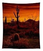 A Red Desert  Tapestry