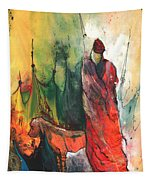 A Red Dog In Morocco Tapestry