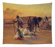 A Rest In The Desert Tapestry