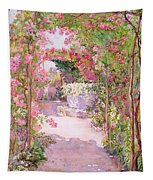 A Rose Arbor And Old Well, Venice Tapestry