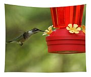 A Ruby-throated Hummingbird Tapestry