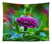 A Sea Of Zinnias 12 Tapestry
