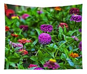 A Sea Of Zinnias 14 Tapestry