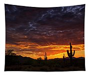 A Sentinel Sunset  Tapestry