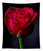 A Single Red Rose Tapestry