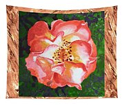 A Single Rose The Dancing Swirl  Tapestry