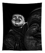 A Smile On The Shoulder - Bw Tapestry
