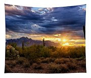 A Sonoran Desert Sunrise Tapestry