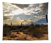 A Sonoran Desert Sunset  Tapestry