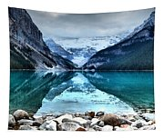 A Still Day At Lake Louise Tapestry