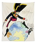 A Stoppage To A Stride Over The Globe, 1803 Litho Tapestry