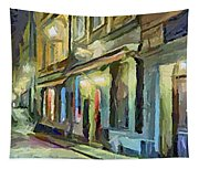 A Street With The Local Inn Tapestry