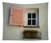 A Sweet Shuttered Window Tapestry