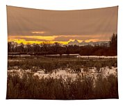 A Teton Dawn In Spring Tapestry