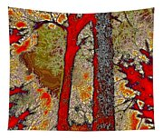A Touch Of Autumn Abstract V Tapestry