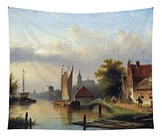 A Town By The River Tapestry