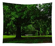 A Tree And A Bench Tapestry