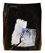 A Tree In A Square Abstract Tapestry