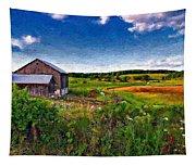 A Verdant Land Impasto Version Tapestry