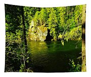 A View Of The Seleway River Tapestry