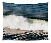 A Wave Breaks  Cannon Beach, Oregon Tapestry