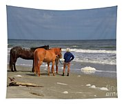 A Windy Day At Hunting Island Beach Tapestry