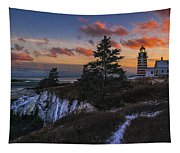 A Winter Dusk At West Quoddy Tapestry
