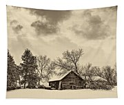 A Winter Sky Sepia Tapestry