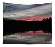 A Christmas Winter Sunset Tapestry