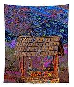 A Wishing Well Pop Art Tapestry