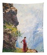 A Young Girl By A Fjord Tapestry