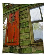Abandoned Cabin Elkmont - Coming Down Clover Tapestry