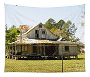 Old Abandoned Cracker Home Tapestry