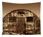 Abandoned Storage Shed Tapestry