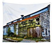 Abandoned Warehouse On The Swinomish Channel - La Conner Washington Tapestry