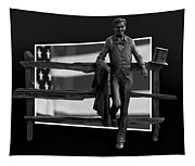 Abe Lincoln In Black And White Tapestry