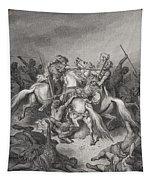 Abishai Saves The Life Of David Tapestry