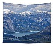 Above Lake Minnewanka #2 Tapestry