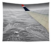 Above The Clouds Wing Tip View Sc Tapestry