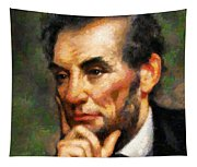 Abraham Lincoln - Abstract Realism Tapestry