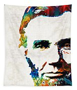 Abraham Lincoln Art - Colorful Abe - By Sharon Cummings Tapestry