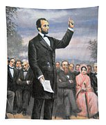 Abraham Lincoln Delivering The Gettysburg Address Tapestry