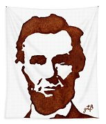 Abraham Lincoln Original Coffee Painting Tapestry