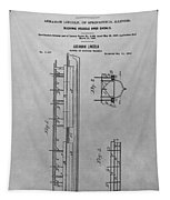Abraham Lincoln Patent Drawing Tapestry