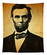 Abraham Lincoln Portrait And Signature Tapestry